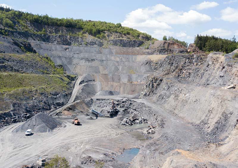 Schieferbruch für Bläschiefer und Schiefersplitt im Thüringer Schiefergebirge