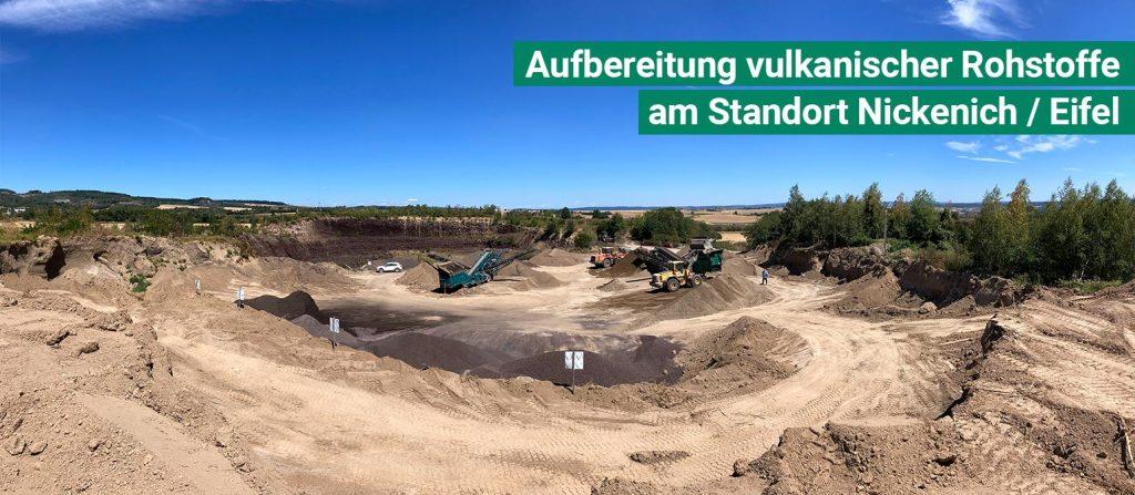 Mischplatz für Erden und Substrate in Kruft